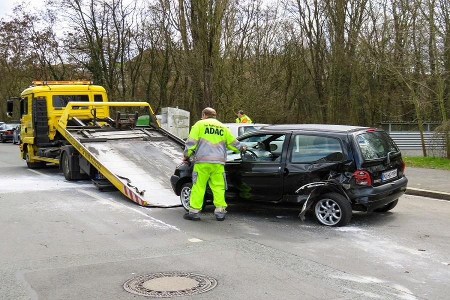 Remorquage d'une voiture